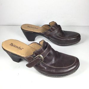 Bjorndal Kendall Mules Brown Size 9.5